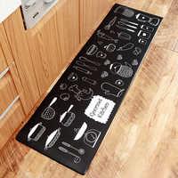 Moder kitchen Carpet Waterproof Oilproof PVC Cartoon Mat Kitchen Floor Door Mat Anti-slip Mats Home Entrance Front Door Doormats