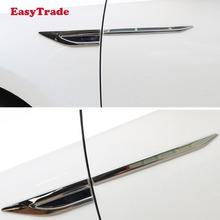 Car Side Fender 3D Vent Air Sticker Decal Automobile Engine Cover Stickers For Volkswagen vw JETTA MK7