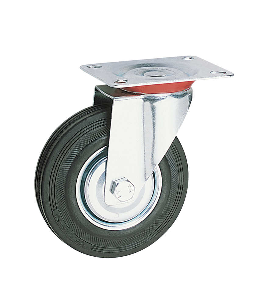 4 Inch Swivel Rubber Industrial Roda Caster