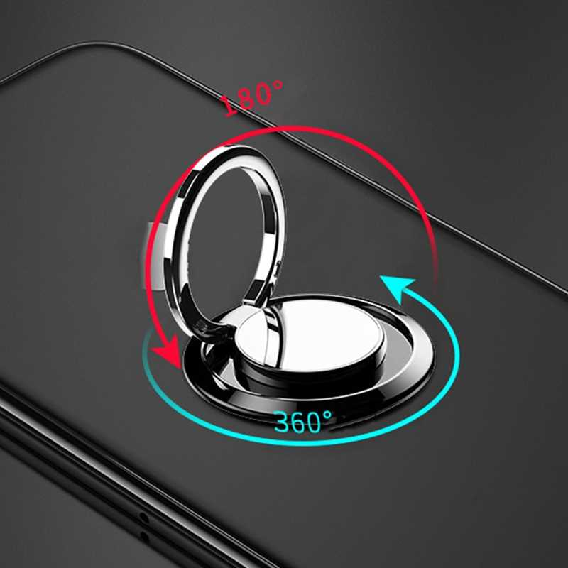 mirror universal socket smart round metal finger ring bracket holder mobile phone stand Car Mount Stand for Samsung Galaxy case