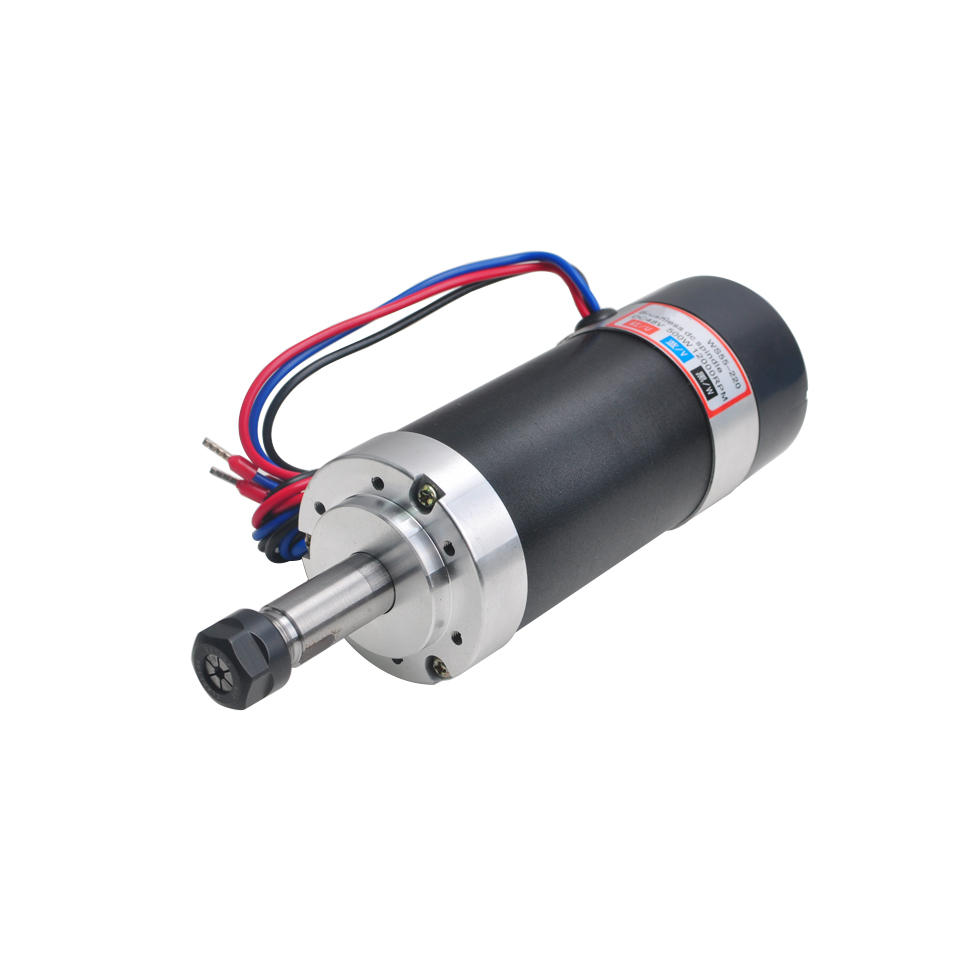 Image 3 - 500W Brushless Spindle Motor Air Cooled Spindle ER11 55MM Bracket DC 48V Machine Tool Router For CNC Milling Engraver Machine-in Machine Tool Spindle from Tools