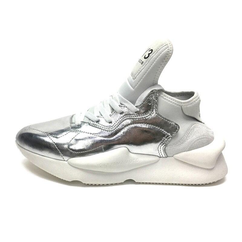 2019 mode hommes baskets en cuir véritable femmes vulcanisé chaussures unisexe respirant papa chaussures de haute qualité - 3