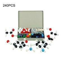240 pièces Kit de modèles moléculaires atomiques de chimie ensemble de modèles éducatifs pour enfants scientifiques généraux