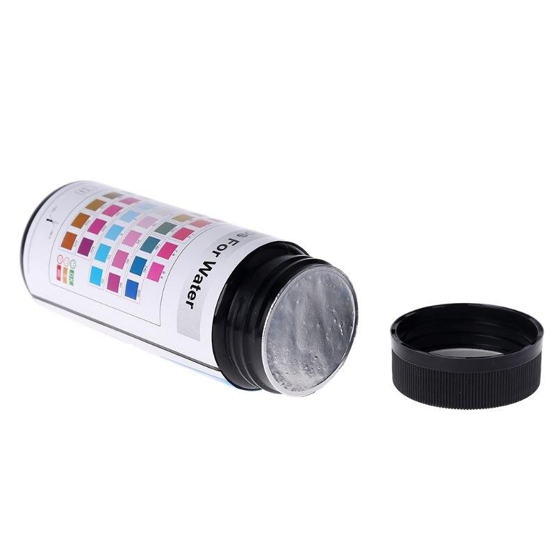 50 шт. тест-полоски для воды 6в1 pH Нитрит Щелочность хлора тест-бумага 831F