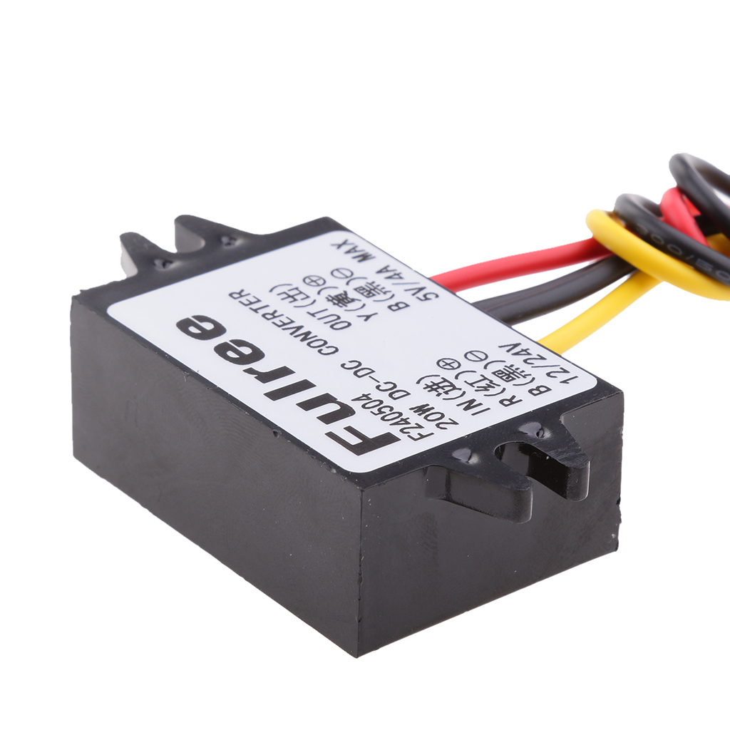 <font><b>12V</b></font> 24V To <font><b>5V</b></font> <font><b>4A</b></font> 20W <font><b>DC</b></font> <font><b>Converter</b></font> Step Down Regulator Car LED Power Supply image