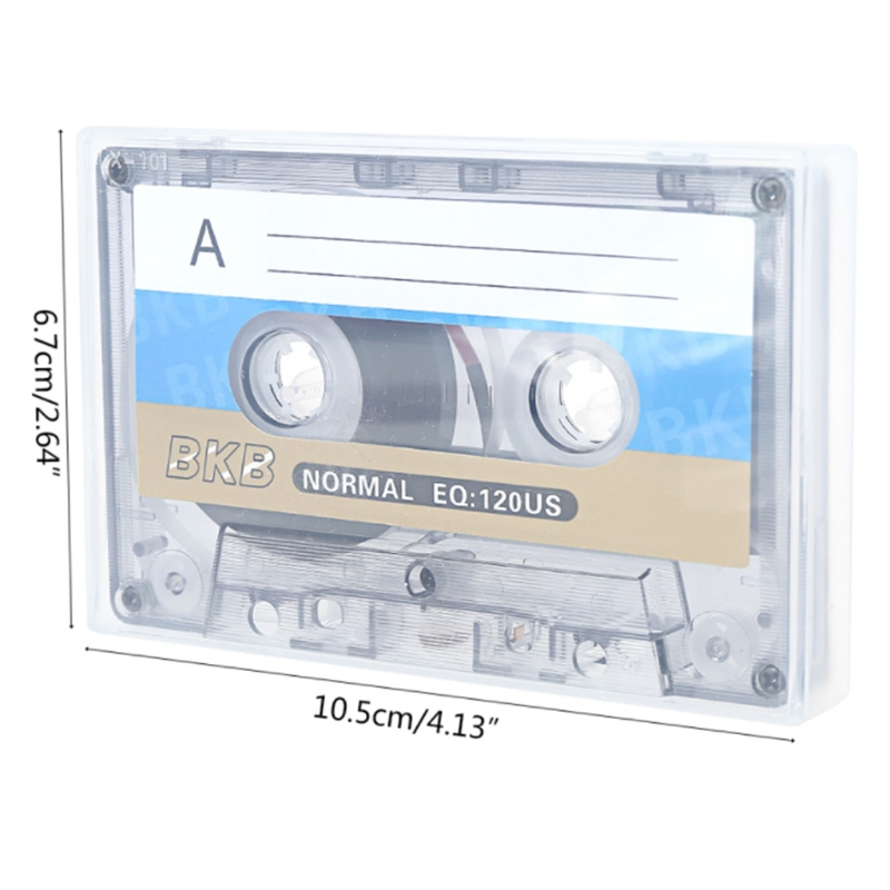 F3MA Cassette Tape with 60 Minutes Convenient Recording Blank Cassette Tape Records Speech Recorder Tape