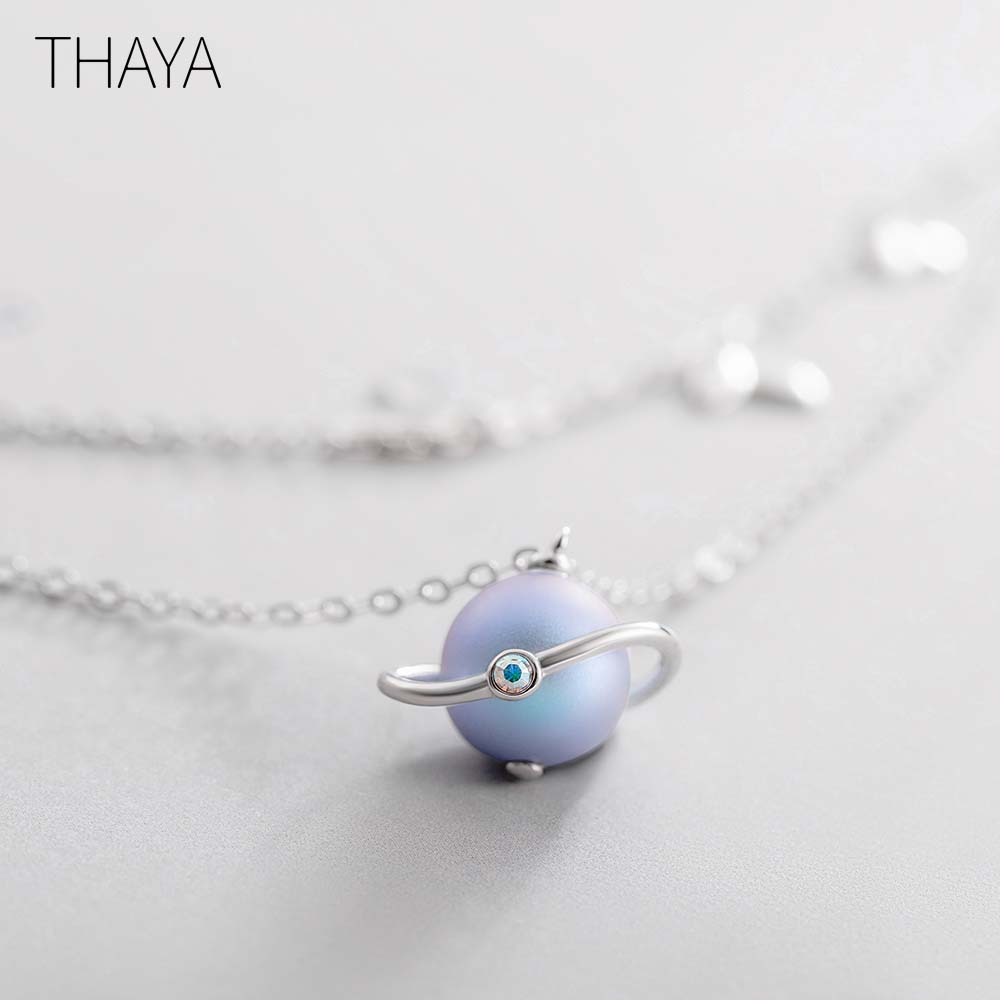 Thaya Midsummer Night's Dream Design Necklace Colored Pearls s925 Silver Choker For Women Elegant Jewelry Ladies Gift(China)