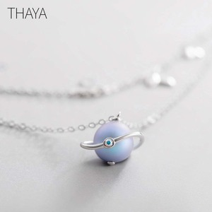 Image 3 - Thaya Midsummer Nights Dream Design Necklace Colored Pearls s925 Silver Choker For Women Elegant Jewelry Ladies Gift