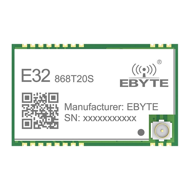 SX1276 868MHz 100mW 20 dBm SMD TTL E32-868T20S ebyte transceptor inalámbrico de largo alcance 3km LoRa IPEX transmisor y el receptor