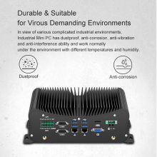 2 DDR4 Mini Pc Core I7 10510U 8550U I5 10210U 4G Module Lpt Hdmi Gpio 6 Com 4 RS485 windows 10 Ventilatorloze Industriële Computer