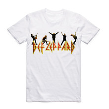 Def Leppard Heavy Metal Rock Band Mens T-shirt N roll Streetwear Short Sleeve Men T Shirt Summer Printed O Neck Clothing