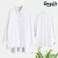 england simple blouses Jewelry buttons loose de moda 2019 kimono blouse women womens tops  plus size