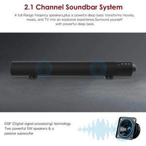 Image 4 - Nova barra de som portátil bluetooth, alto falante, sem fio, subwoofer, som dual, aux/tf, barra de som, estéreo para pc e tv