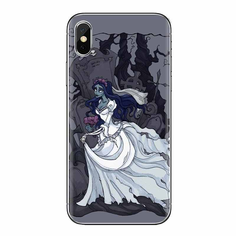 רך שקוף עטיפות עבור iPod מגע Apple iPhone 4 4S 5 5S SE 5C 6 6S 7 8 X XR XS בתוספת מקס אמילי חתונת רפאים