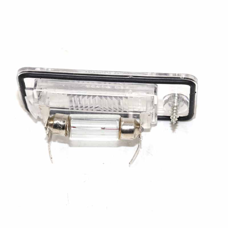 Vaorwne 2Pcs License Plate Light Lamp Lens 8E0807430A 8E0807430B for A3 A4 S4 B6 B7 A6//S6 Q7