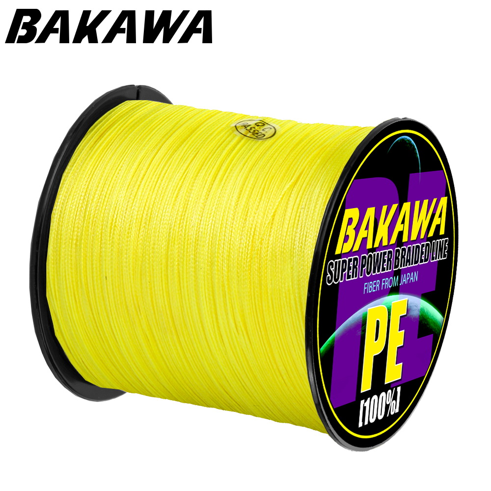 BAKAWA Braided-Line Lure Strands Fishing Multifilament Pe-Wire Japanese 1000M 500M 300M title=