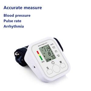 Image 5 - Otomatik dijital Lcd üst kol kan basıncı monitörü kalp yendi hızı darbe ölçer tonometre tansiyon aleti pulsometer