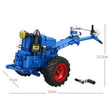 New science and technology machinery series 7069 walking tractor small particles children assembled puzzle blocks toys gifts