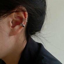 Boucles d'oreilles à Clip croisé Simple pour femmes et filles, 2 pièces, mode, perle cubique zircone, manchette d'oreille sans Piercing bijoux