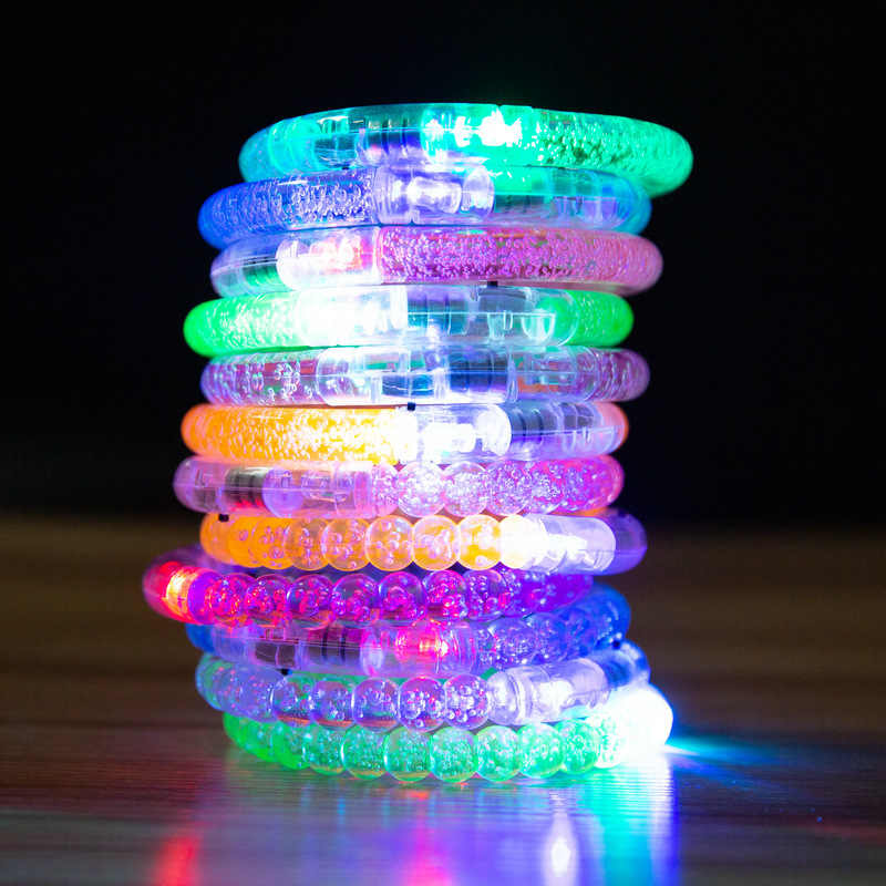 Led Dance Bangle Cartoon Watch Boys Girls Flash Wrist Band Light Bracelets for Birthday Halloween Glowing Party Supplies