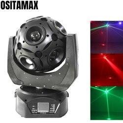 Lyre LED Stage Beam reflektor z ruchomą głowicą kula dyskotekowa ruchoma 12x12w 4w1 RGBW obrót oświetlenie na imprezę piłka DMX512 sterowanie sprzęt DJ