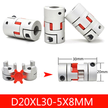 CNC Motor Jaw Shaft Coupler 3D Printer Parts 5mm to 8mm Aluminium Flexible Coupling Spider 5*8*25mm Dropshipping high quality 10pcs d19l25 cnc motor jaw shaft coupler flexible coupling od 19x25mm wholesale 4 5 6 6 35 8 9 5 10 12mm