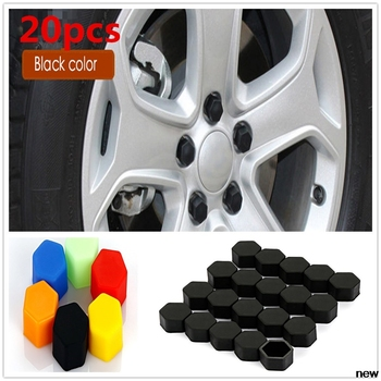 20Pcs 17/19/21mm Silicone Hexagonal Socket car Wheel Hub Screw Cover, Nut Caps Bolt Rims Exterior Decoration & Protection image