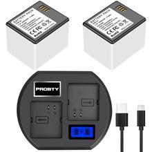 Bateria para netgear arlo pro câmera nova li ion bateria recarregável + carregador de bateria com display led de carregamento substituir A 1