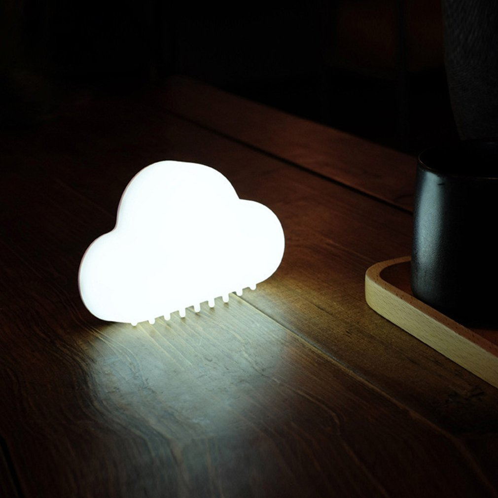 Novelty Cute Cloud Shape Night Light Wireless Wall Lamps LED USB Voice Sensor Lamp Children Room Decor Rechargeable USB LED