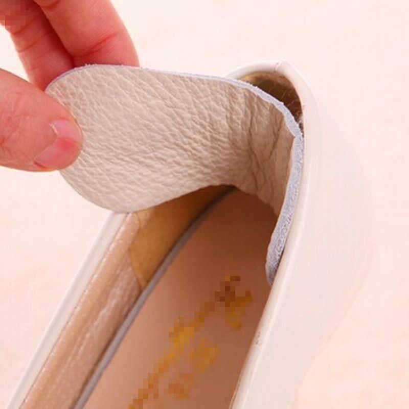 1 Pair Foot Care รองเท้าแผ่นวัวหนังพื้นรองเท้าสูง Heel Cushion ใหม่