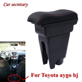Car secretary For Toyota aygo bj armrest box USB Arm Rest 3 colors Car decoration travel Accessories storage box upgraded car styling car arm rest accessories accessory mouldings protector automobiles armrest box 02 03 04 for chevrolet sail