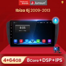 Junsun V1 Android 10.0 Ai Voice Radio Coche con Pantalla para Seat Ibiza 6j 2009 2010 2011 2012 2013 con funciones GPS de Navegación, Mandos de Volante No es Autoradio de 2 DIN