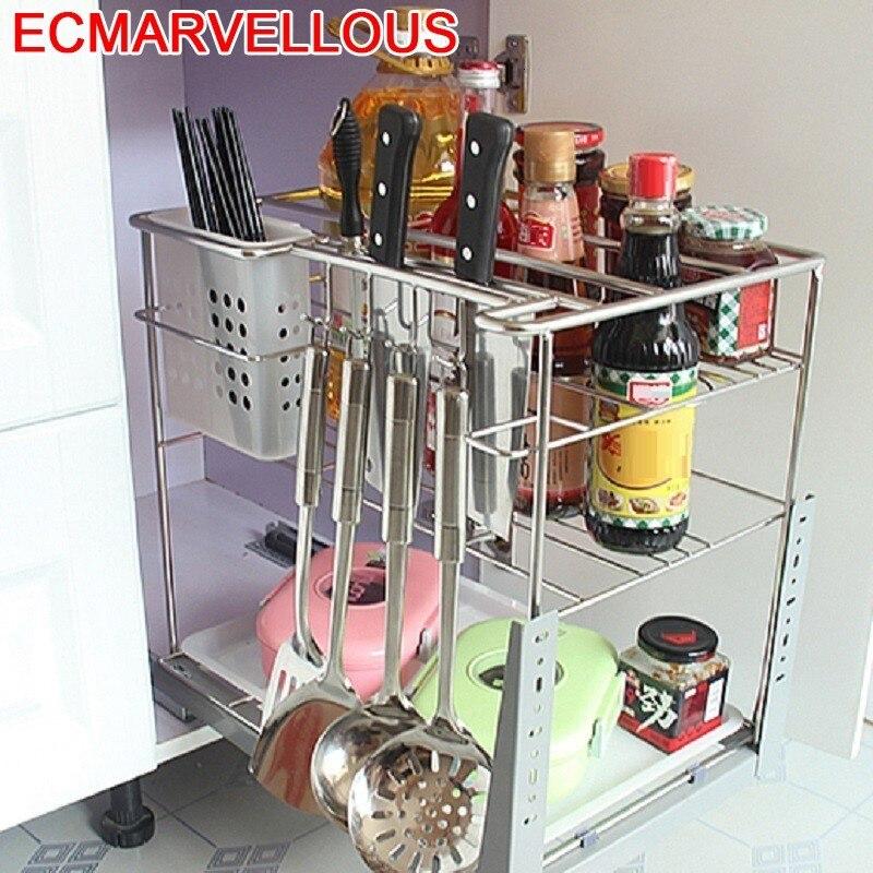 Armario Colgar En La Ducha Cestas Para Organizar Stainless Steel Organizer Cocina Cozinha Kitchen Cabinet Storage Basket