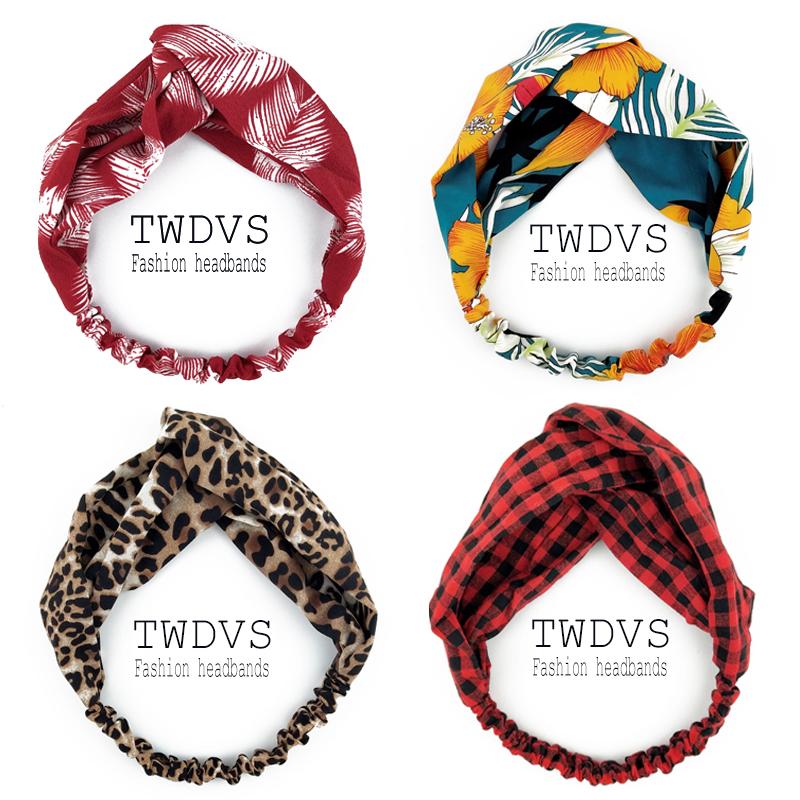 Scrunchies Woman Knotted Turban Hair Accessories for Girls Turban Elastic Hairband Head Wrap Striped  Hair Scrunchies W276