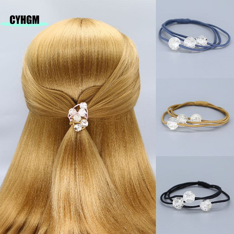 Elastic Hair Bands Girls Kawaii  Hair Ties Scrunchie Satynowa Gumka Newborn Bow Headband Jelly Bow Hair Accessories Brand G018