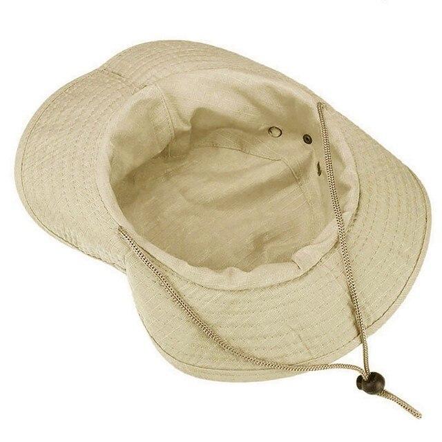 Bucket hat boonie hunting fishing outdoor wide cap  military beige  wide brim floppy unisex foldable  hiking beach fishing cap