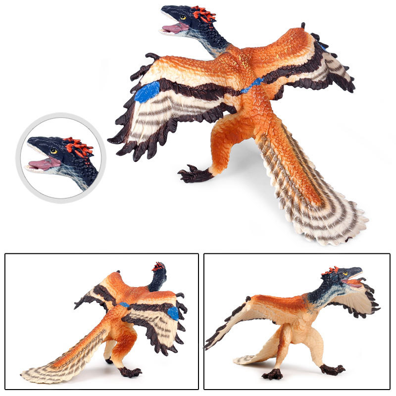 Solid Plastic Simulation Dinosaur Model Figure Collectible Toys Archaeopteryx Animal Action Figures Kids Sandtable Scene Toy