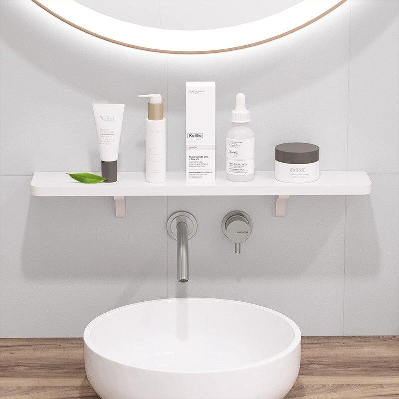 Simple Bathroom Shower Shelf Wall Holder Kitchen Storage Rack Punch Free Bathroom Shelf Wall Mounted Tray For Home Storage