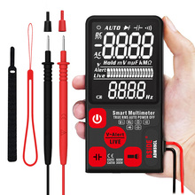 3.5 Inch RMS Intelligent Automatic EBTN LCD Digital Multimeter 9999 Counts AC/DC Frequency Capacitance Meter with Flashlight victor vc70f digital multimeter intelligent multimeter automatic identification capacitance resistance band store