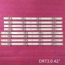 8 pçs/set tira retroiluminação LED para LG 42LB5610 42LF561V 42LB580U 42LB563U 42LB653V 42LB652V 42LB631V 42LB630V 42LB629V 42LB552U