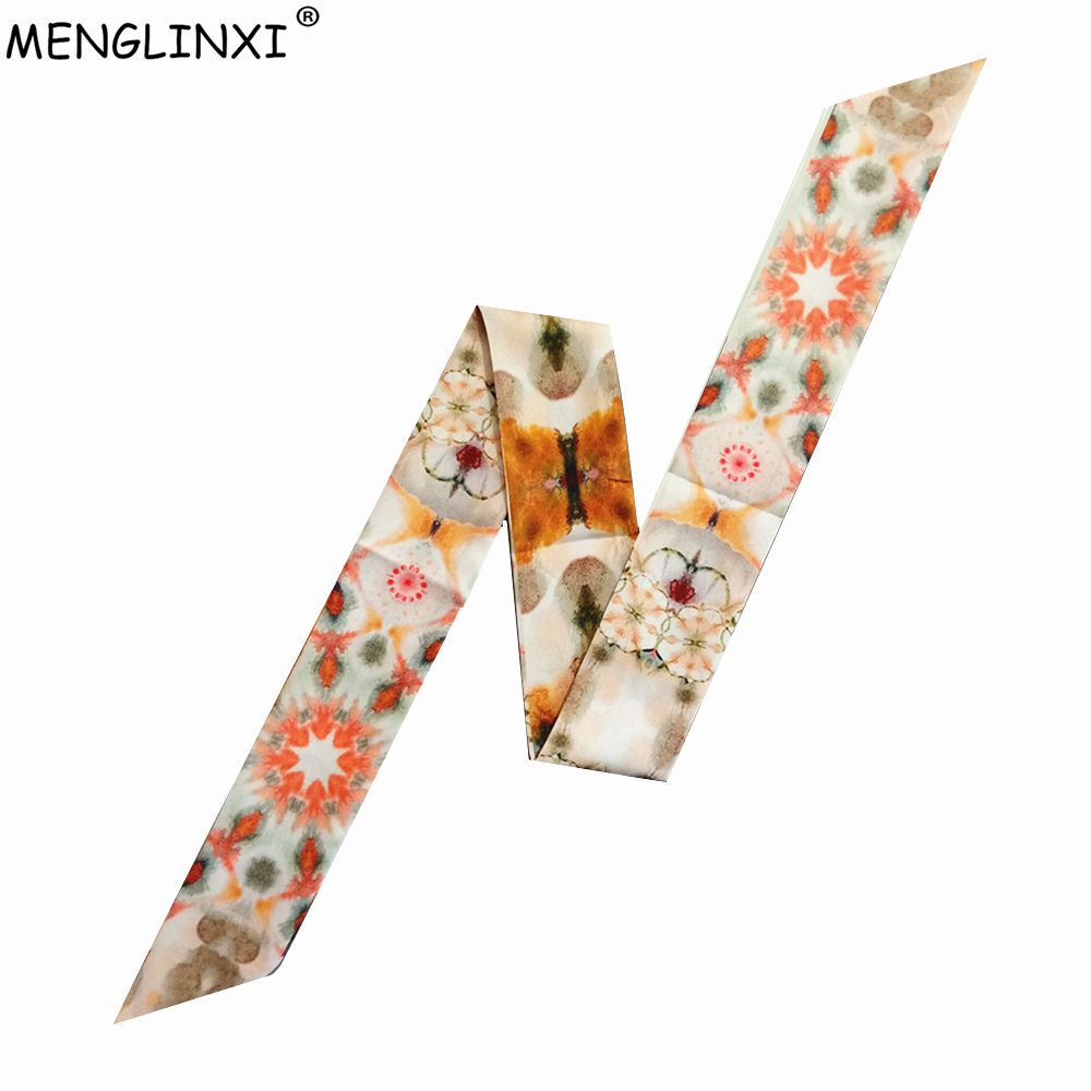 Luxury Brand Silk Scarf 2020 New Design Constellation Scarf Women Bag Hair Skinny Scarf Wrist Towel Foulard Femme Tie