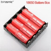 Abs 18650 caixa de armazenamento da bateria 1x 2x 3x 4x 18650 alta qualidade caixa de bateria diy 1 2 3 4 slot baterias recipiente com pino rígido