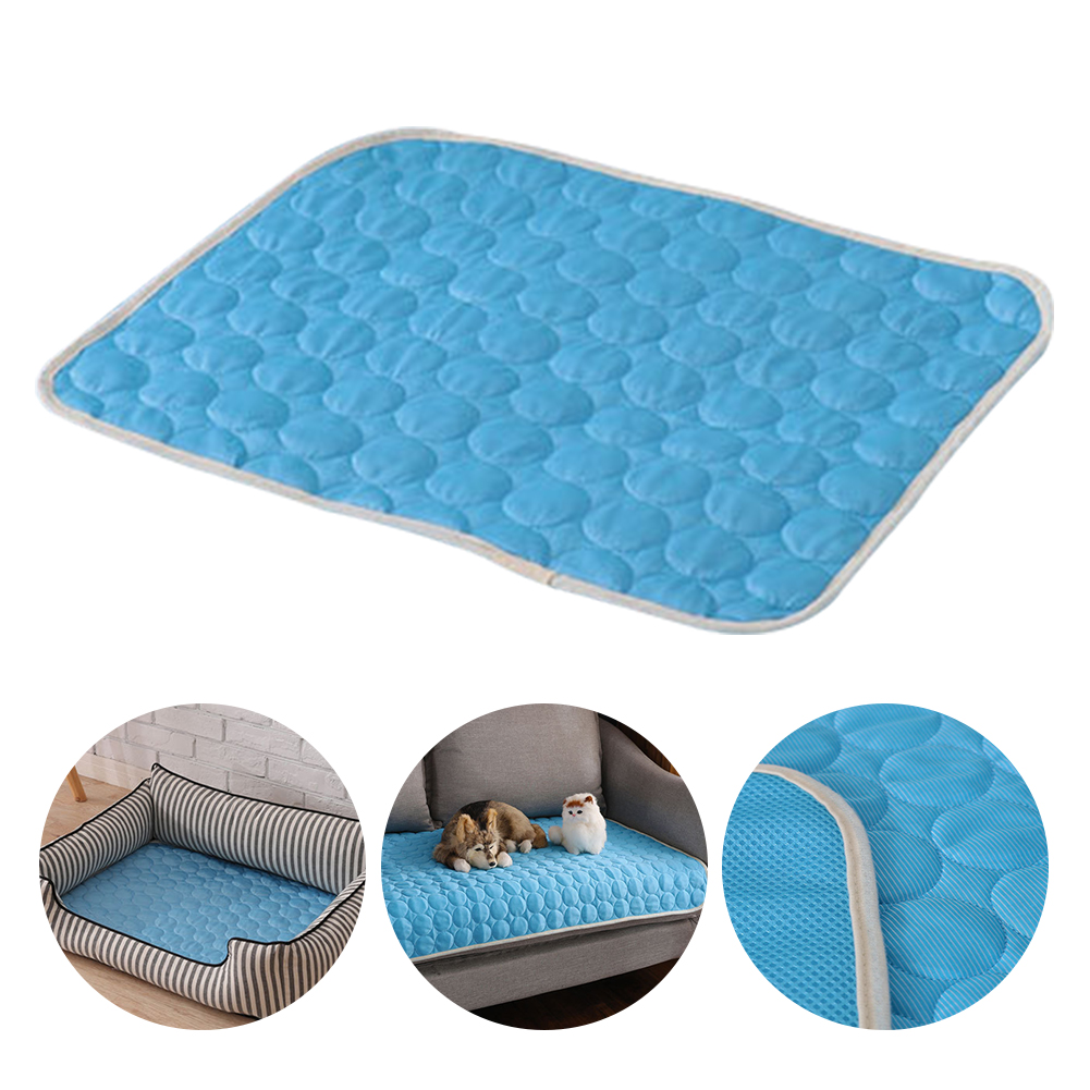 Summer Pet Cat Non-toxic Bed Pad Cushion Portable Chilly Indoor Dog Cooling Mat Sleeping Soft Blanket Accessories Sofa image