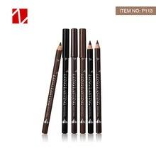 MENOW P113 12 pièces crayon Eyeliner pour les femmes imperméable à leau résistant à la transpiration durable sourcil crayon crayon de maquillage outils faciles à colorier