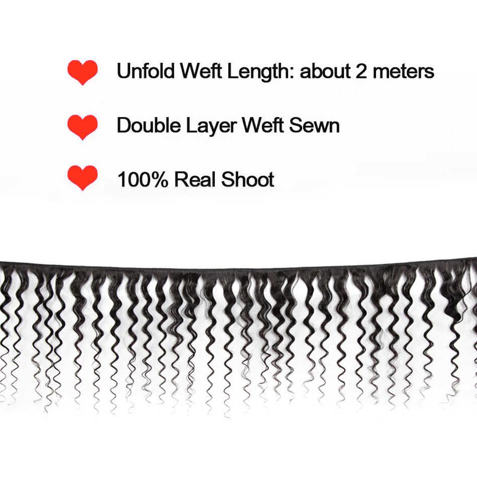 8-28 дюймов бразильские Remy глубокие кудрявые натуральные кудрявые пучки волос с 13X4 фронтальное наращивание шнурка с детскими шелковистыми волосами