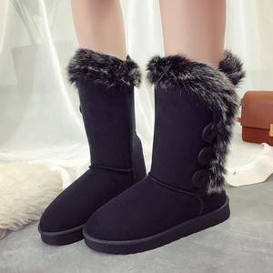 Image 4 - Buty damskie śniegowce duże rozmiary wysokie rurki klasyczne modele z grubego polaru jesienne zimowe buty śnieżne w dużych rozmiarach z bawełny buty buty dobrej jakości