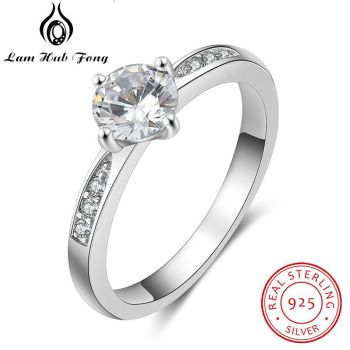 lesf vintage style 925 sterling silver 1 25 ct oval cut trendy wedding ring for women zircon engagement ring trendy jewelry 925 Sterling Silver Rings for Women Simple Style Cubic Zircon Ring Engagement Wedding Gift Silver 925 Jewelry (Lam Hub Fong)