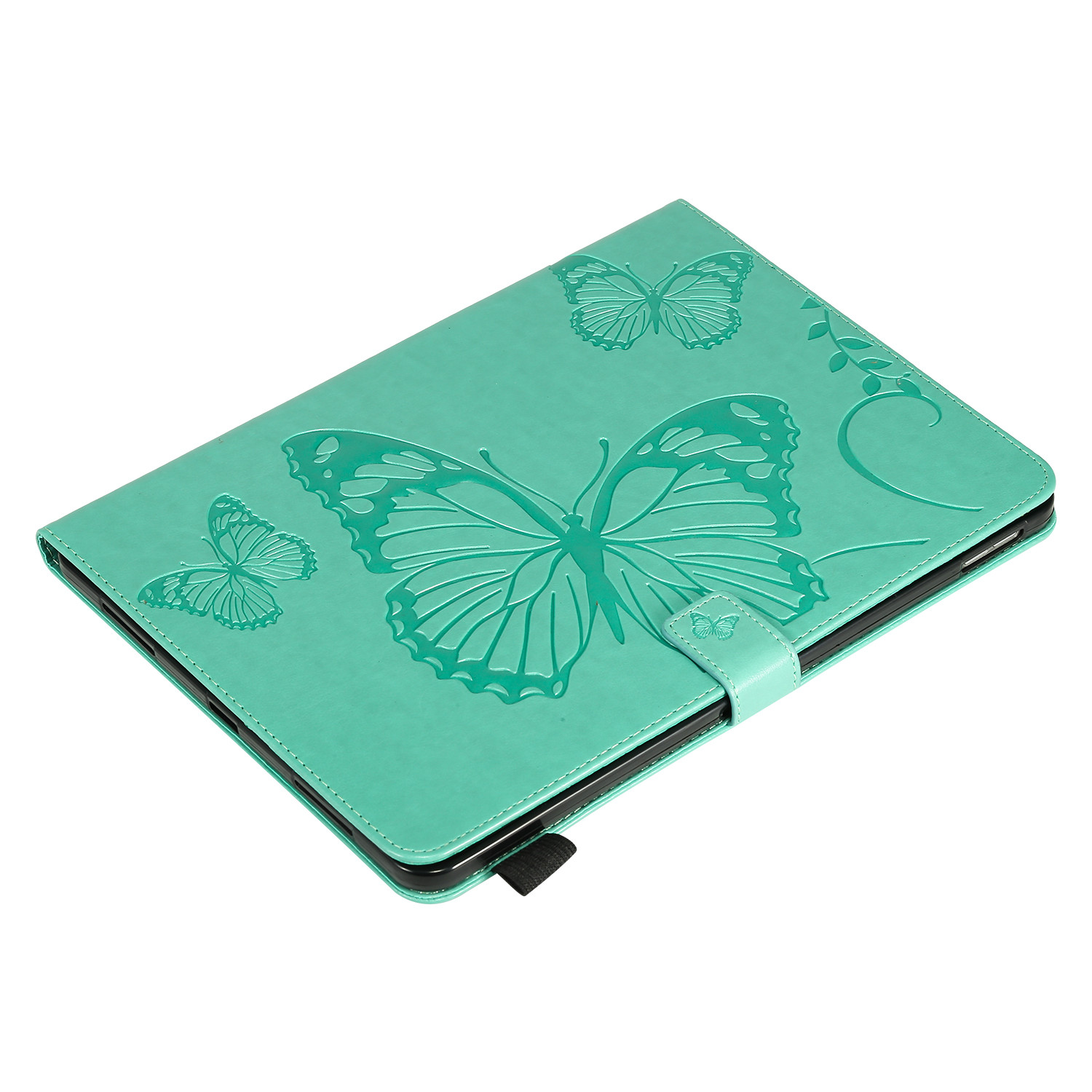 2 Blue Butterfly Tablet Fundas For iPad Pro 12 9 Case 2020 2018 Folding Folio Embossed Cover For