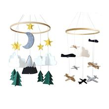 Starry Sky / Airplane and Cloud Nursery Wind Bell Pendant Decoration Valentines Day Gift Home Accessories