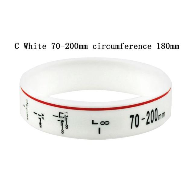Photographer silicone bracelet Focal Length style Wristband
